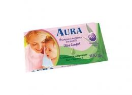 Влажные салфетки Aura Ultra Comfort для детей с алоэ и витамином Е