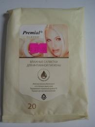 Влажные салфетки Premial Classic для интимной гигиены