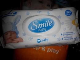 Влажные салфетки Smile baby с экстрактом ромашки и алоэ