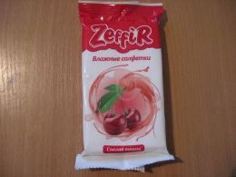 """Влажные салфетки Zeffir """"Спелая вишня"""""""