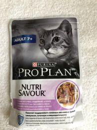Влажный  корм для кошек Purina Pro Plan Adult 7+  Nutri Savour со вкусом индейки