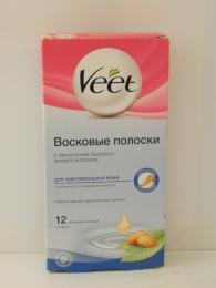 """Восковые полоски """"Veet"""" c витамином Е и миндальным маслом для чувствительной кожи"""