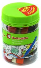 Восковые трехгранные карандаши Baramba 15 цветов