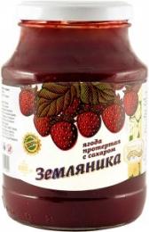 """Ягода протертая с сахаром """"Сибирская ягода"""" Земляника"""