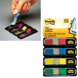 Закладки самоклеющиеся Post-it Index 12 мм, 4 цв. х 35 л.