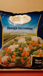 """Замороженные овощи Bauer """"Овощи весенние"""""""