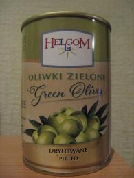 Зеленые оливки без косточек Helcom Oliwki Zielone Green Olives Drylowane Pitted