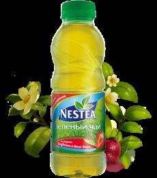 Зеленый чай Nestea со вкусом клубники и алоэ вера