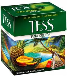 Зеленый чай Tess Pina Colada с манго и ананасом