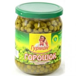 """Зеленый консервированный горошек """"Гурман"""""""