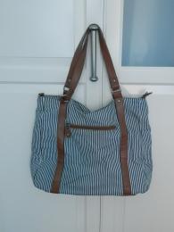 """Женская сумка """"Colin's"""", сине-белая полоска"""