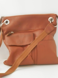 """Женская сумка """"Империя сумок"""", прессованная кожа, коричневая"""