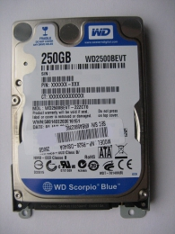 Жесткий диск Western Digital WD2500BEVT Scorpio Blue 250 GB