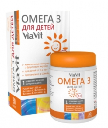 Жевательные капсулы ViaVit Омега 3 для детей