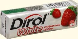 """Жевательная резинка Dirol White """"Клубничная поляна"""""""