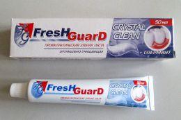 Зубная паста Fresh Guard Crystal Clean + сперминт профилактическая оптимально очищающая