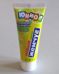 """Зубная паста Новый жемчуг """"Лимон и мята"""" Юниор 7-14 лет"""