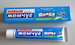 """Зубная паста """"Новый жемчуг"""" Юниор Яблоко + мята"""