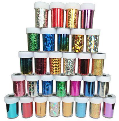 Фольга для ногтей цветная