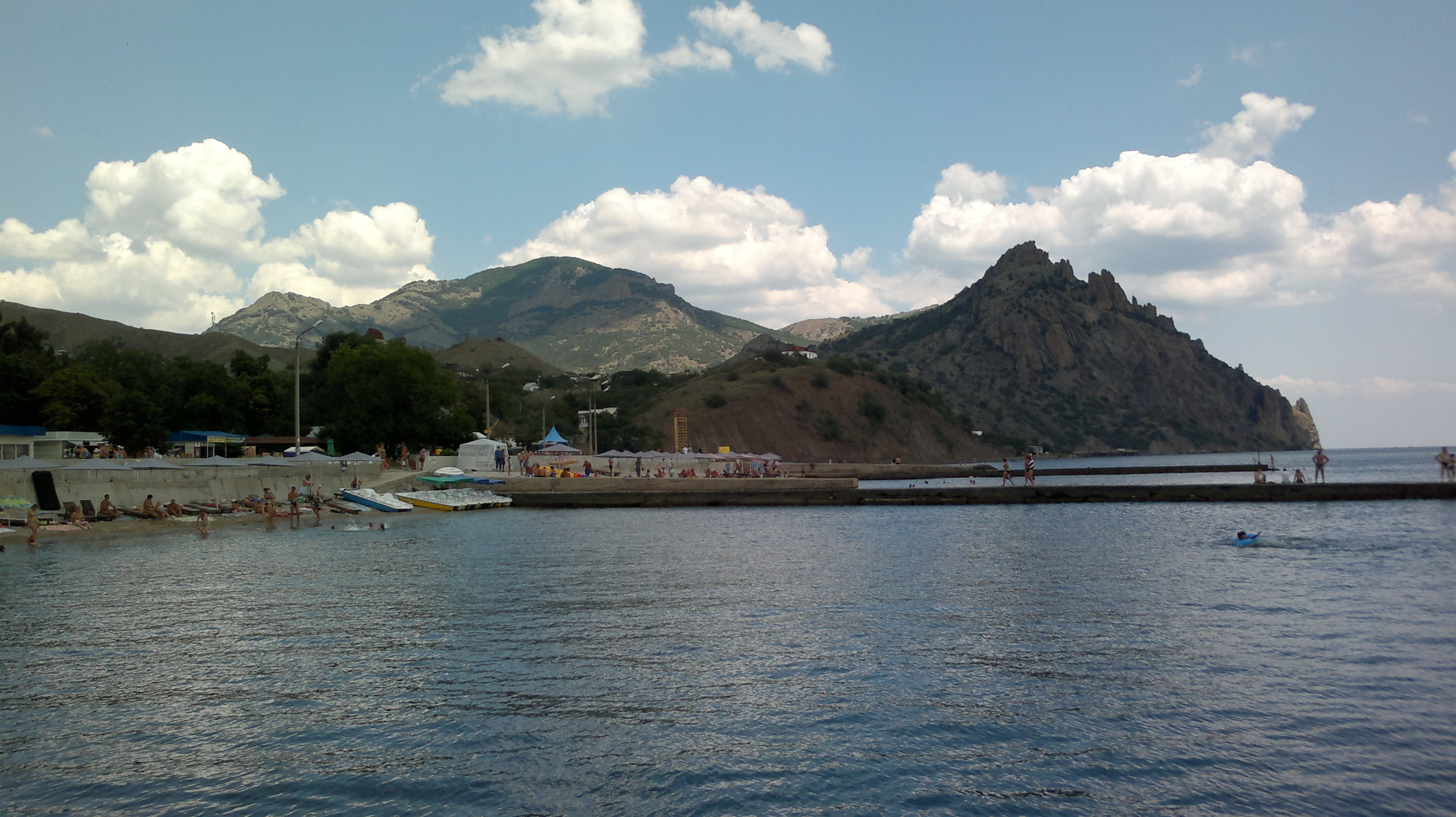 Крым поселок курортное фото поселка и пляжа