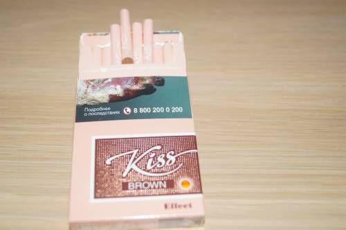 сигареты kiss brown effect купить