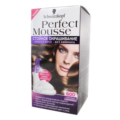 Краска для волос без аммиака шварцкопф перфект мусс палитра цена