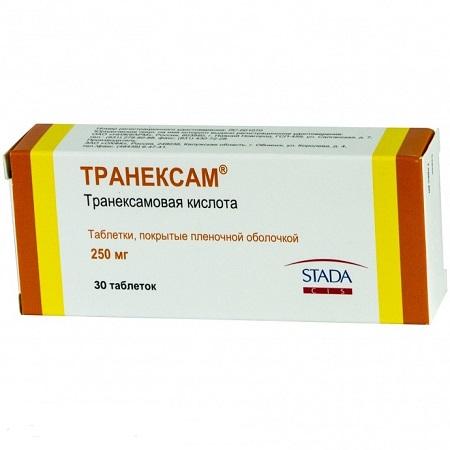 Транексам, таблетки покрыт. Плен. Об. 250 мг 10 шт. Купить, цена и.