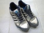 Мужские кроссовки Adidas zx750  white / grey / blue