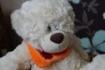Мордочка игрушки Plush Apple медведь с шарфом 24 см белый
