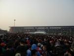 Гран При Формулы 1 в Китае - огромная толпа на выход в метро, но организация хорошая, все проходится довольно быстро!