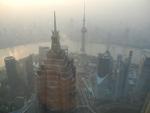 Вид со смотровой площадки Shanghai World Financial Center