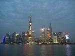 Набережная Вайтань в Шанхае - вечером совершенно потрясающий вид на небоскребы!