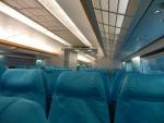 Шанхайский поезд Маглев - внутри комфортные сидения