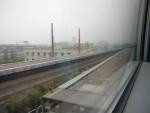 Шанхайский поезд Маглев - вид из окна