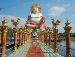 Храм Плай Лем на острове Самуи - статуя Будды
