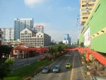 Район Чайна-таун в Сингапуре утром