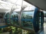 Капсула на колесе обозрения Singapore Flyer в Сингапуре
