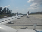 Аэропорт острова Самуи - в самолете, ждем взлета