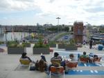 На крыше научного музея Nemo в Амстердаме
