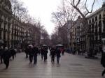Улица Ла Рамбла в Барселоне