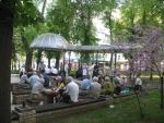 трогательнейшие посиделки пенсионеров в парке
