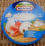"""Упаковка сыра Hohland """"Классическое трио"""" (вид сверху)"""