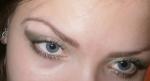 макияж с использованием 2 зеленых оттенков