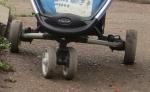 Переднее вращающееся колесо, фиксатор и нерегулируемая подножка