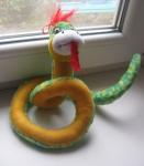 """змейка, мягкая игрушка, купила в """"Просторе"""""""