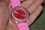 Розовые часы Geneva