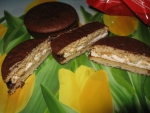 """Печенье прослоённое глазированное Lotte """"Choco Pie"""".  Можно разрезать"""
