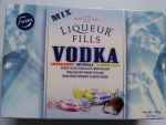 Liquer fills vodka