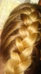 Мои блестящие волосы.