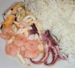 Коктейль из морепродуктов  с рисом